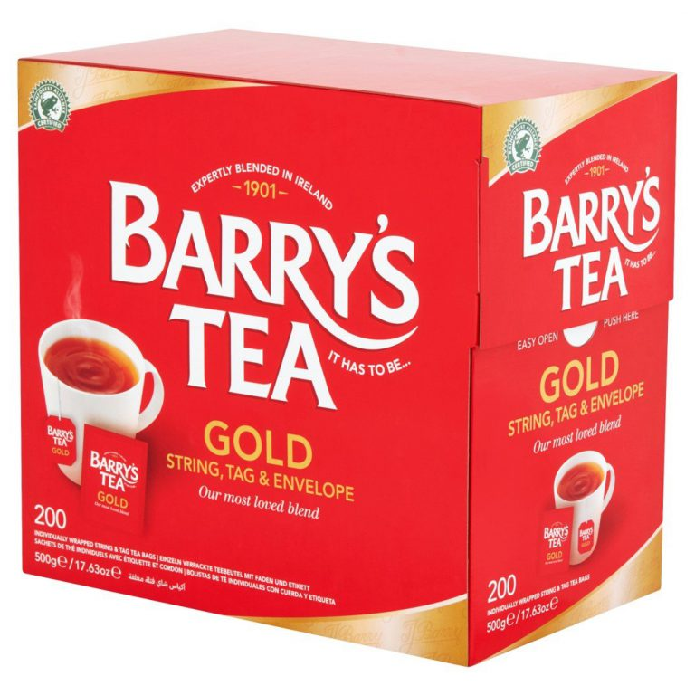 Barry's Tea Gold Tagged & Enveloped at Plumule Expat shop Rotterdam.